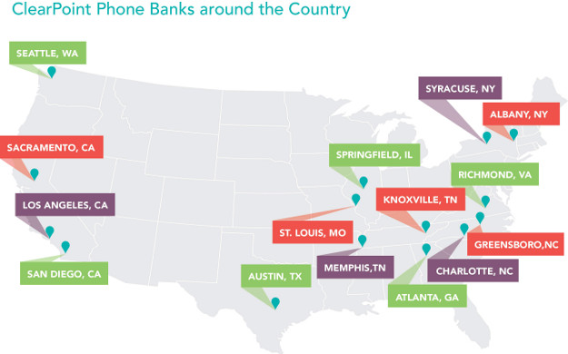 ClearPoint Phonebank Locations