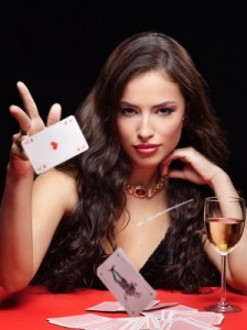 woman with card marin
