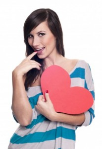 woman wuth heart by marcolm