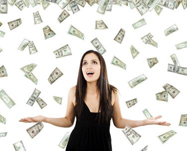 Money Raining on Girl