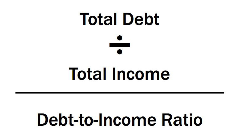 Debt to income ratio forumla