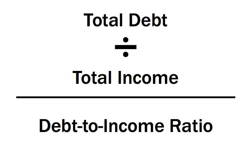 Debt to income ratio forumla