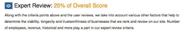 Expert Review Screenshot