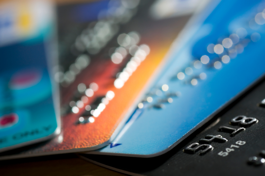 many credit cards in a row
