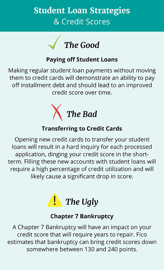 Student Loans and Credit Scores Infographic