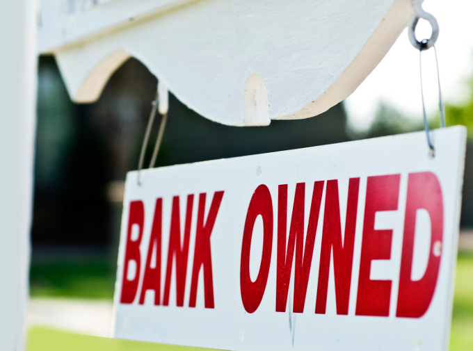 Bank owned home after foreclosure