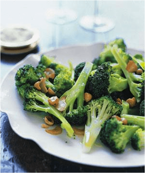Broccoli with Hazelnuts