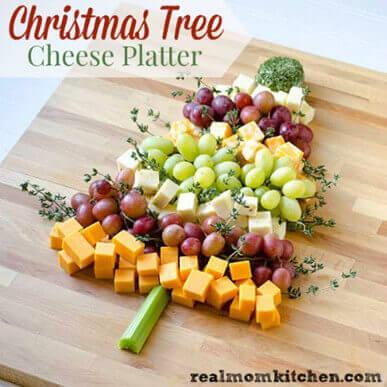 Christmas Tree Cheese Plate