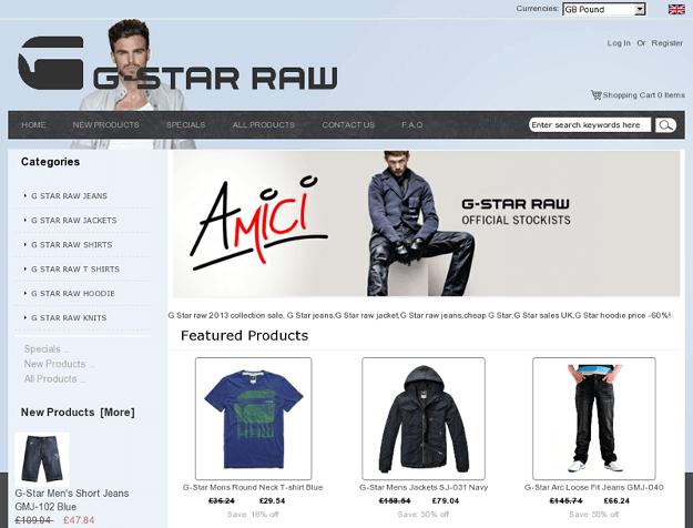 Fake Shopping Site