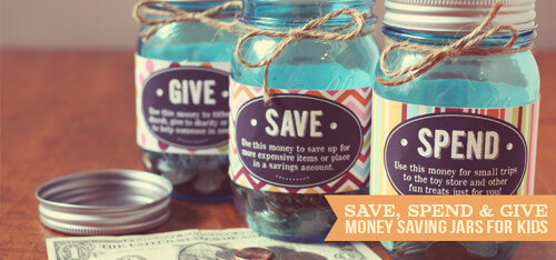 Money Saving Jars for Kids