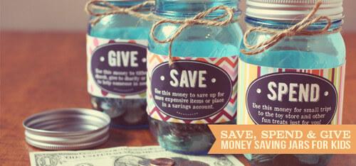 Money Saving Jars for Kids