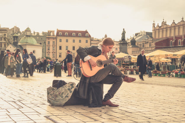 Playing Guitar in Public