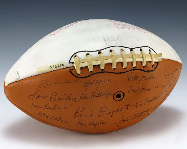 autographed football