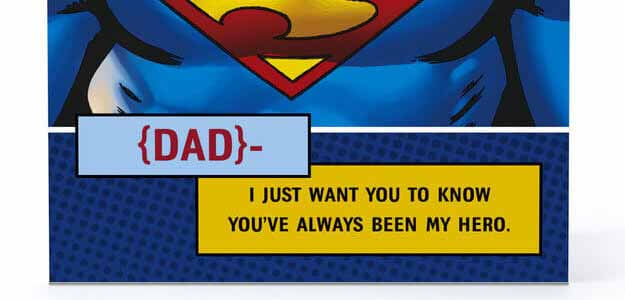 Superdad Greeting Card