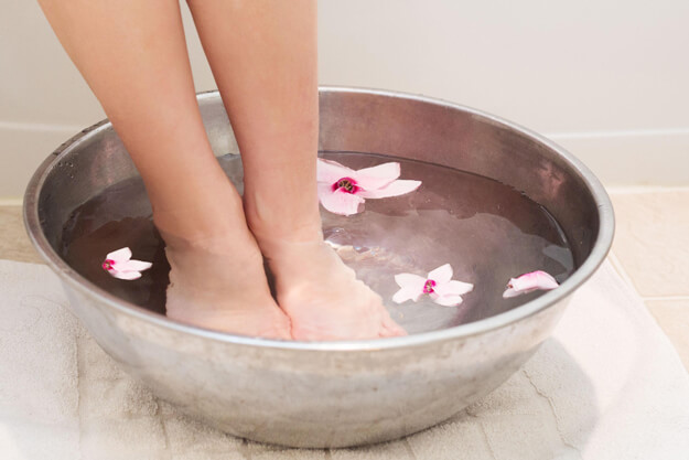 soaking feet